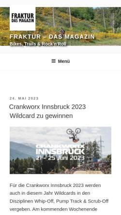 Vorschau der mobilen Webseite www.fraktur-magazin.de, Fraktur
