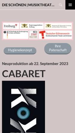 Vorschau der mobilen Webseite www.wolfgang-und-kern.de, Musiktheater