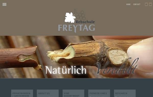 Vorschau von www.rebschule-freytag.de, Rebschule Freytag