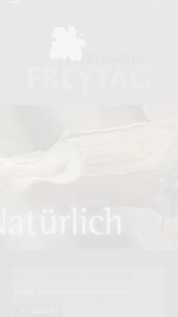 Vorschau der mobilen Webseite www.rebschule-freytag.de, Rebschule Freytag