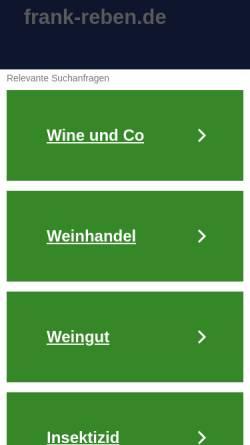 Vorschau der mobilen Webseite www.frank-reben.de, Rebveredlung Frank