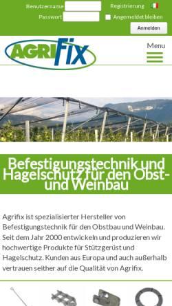 Vorschau der mobilen Webseite www.agrifix.eu, AgriFix