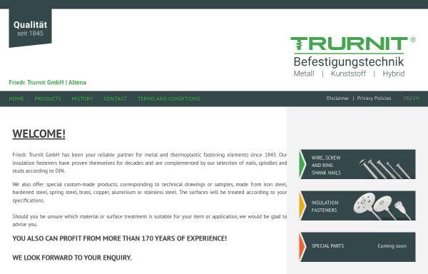 Vorschau von www.trurnit-friedr.de, Friedr. Trurnit GmbH