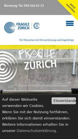 Vorschau der mobilen Webseite www.fragile.ch, Fragile Suisse