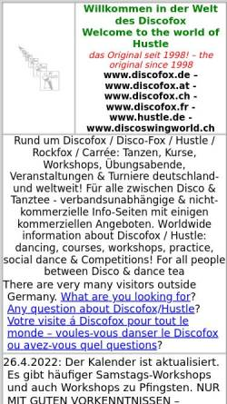 Vorschau der mobilen Webseite www.discoswingworld.ch, Disco Swing World