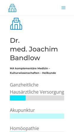 Vorschau der mobilen Webseite www.praxis-dr-bandlow.de, Dr. med. Joachim Bandlow