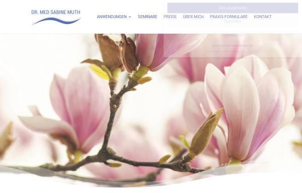 Vorschau von sabine-muth.de, Dr. med. Sabine Muth - Praxis für Naturheilverfahren und Energetische Medizin