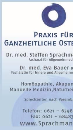 Vorschau der mobilen Webseite sprachmann.de, Dres. med. Sprachmann