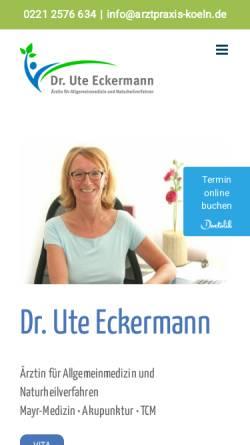 Vorschau der mobilen Webseite www.arztpraxis-koeln.de, Arztpraxis für Allgemeinmedizin und Naturheilkunde Christine Auhagen