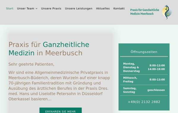 Vorschau von www.dr-petersohn.de, Dr. med. Christian Petersohn