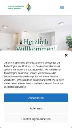 Vorschau der mobilen Webseite www.dr-petersohn.de, Dr. med. Christian Petersohn