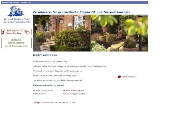 Vorschau von www.sanftemedizin.de, Dr. med. Wismann-Focke und Dr. med. Focke