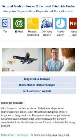 Vorschau der mobilen Webseite www.sanftemedizin.de, Dr. med. Wismann-Focke und Dr. med. Focke