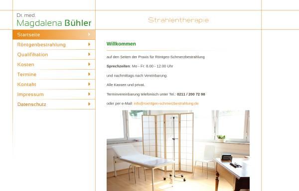Vorschau von www.roentgen-schmerzbestrahlung.de, Dr. med. Magdalena Bühler