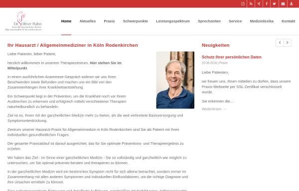 Vorschau von www.praxis-hahn.de, Praxis Dr. Oliver Hahn