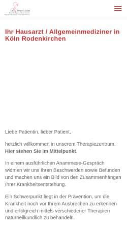 Vorschau der mobilen Webseite www.praxis-hahn.de, Praxis Dr. Oliver Hahn