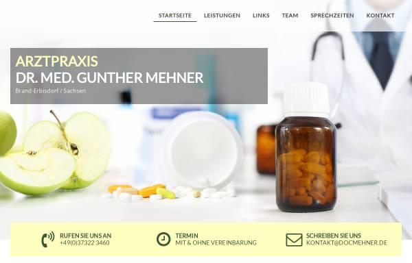 Vorschau von www.docmehner.de, Dr. med. Gunther Mehner