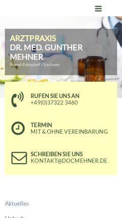 Vorschau der mobilen Webseite www.docmehner.de, Dr. med. Gunther Mehner