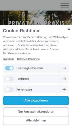 Vorschau der mobilen Webseite www.ganzmed.eu, Dr. med. univ. Matthias Freutsmiedl