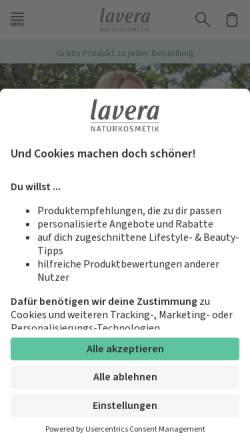 Vorschau der mobilen Webseite www.lavera.de, Laverana GmbH & Co. KG