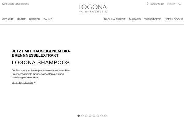 Vorschau von www.logona.de, Logona Naturkosmetik und Heilmittel