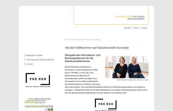 Vorschau von www.naturkosmetik-konzepte.de, Naturkosmetik Konzepte, Elfriede Dambacher
