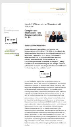 Vorschau der mobilen Webseite www.naturkosmetik-konzepte.de, Naturkosmetik Konzepte, Elfriede Dambacher