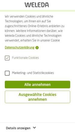 Vorschau der mobilen Webseite www.weleda.de, Weleda AG