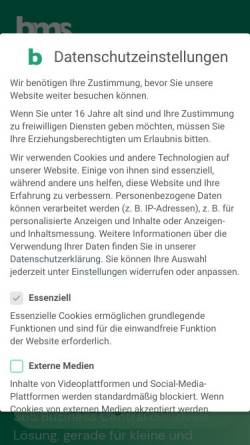 Vorschau der mobilen Webseite www.bms-gmbh.com, BMS Wassertechnik GmbH