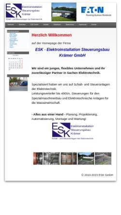 Vorschau der mobilen Webseite www.e-s-k-gmbh.de, ESK GmbH