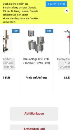 Vorschau der mobilen Webseite www.f-sm.de, FSM Dipl.-Ing. Günter Braband