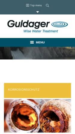 Vorschau der mobilen Webseite www.guldager.ch, Guldager (Schweiz) AG