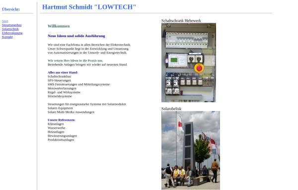 Vorschau von www.lowtech.at, LowTech Hartmut Schmidt
