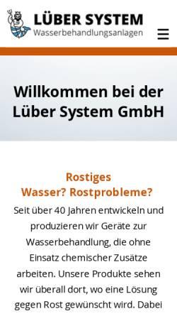 Vorschau der mobilen Webseite www.luebersystem.ch, Lüber System GmbH