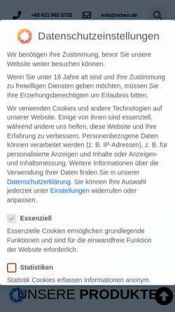 Vorschau der mobilen Webseite orben-wasseraufbereitung.de, Orben Wasseraufbereitung - Regenerationsservices