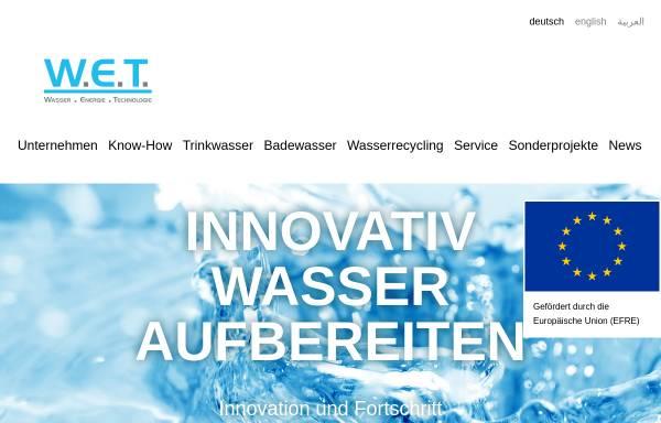 Vorschau von www.wet-gmbh.com, W.E.T. GmbH