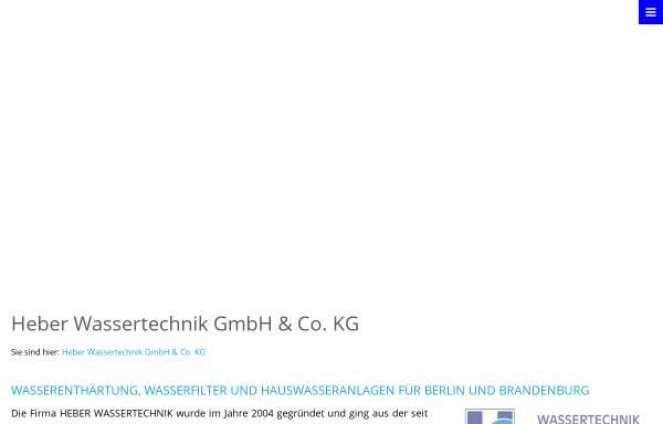 Vorschau von www.heber-wassertechnik.de, Wolfgang Heber - Wassertechnik