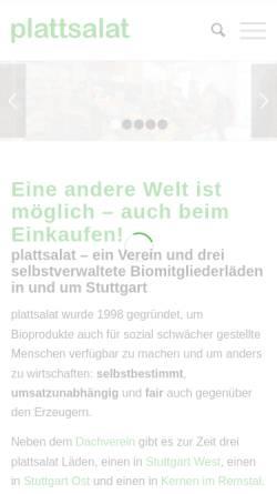 Vorschau der mobilen Webseite www.plattsalat.de, Plattsalat e.V.