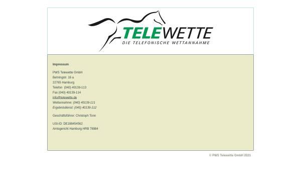 Vorschau von www.telewette.de, Telewette.de