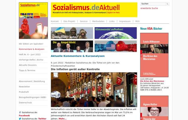Vorschau von www.sozialismus.de, Zeitschrift Sozialismus