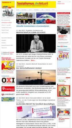 Vorschau der mobilen Webseite www.sozialismus.de, Zeitschrift Sozialismus
