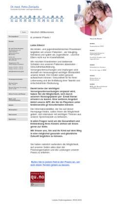 Vorschau der mobilen Webseite www.kinderaerztin-gl.de, Dr. med. Petra Zieriacks