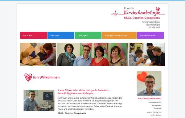 Vorschau von www.kinderkardiologie-ac.de, Dr. med. Wolfgang Engelhardt