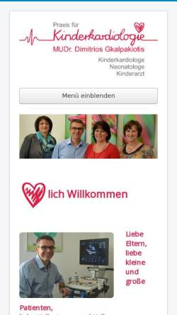 Vorschau der mobilen Webseite www.kinderkardiologie-ac.de, Dr. med. Wolfgang Engelhardt
