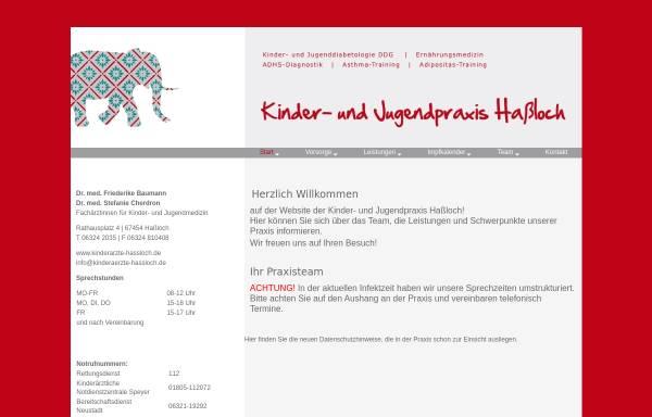 Vorschau von www.kinderaerzte-hassloch.de, Dres. med. Friederike Baumann, Stefanie Cherdron