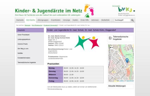 Vorschau von www.kinderaerzte-im-netz.de, Dres. med. Scholz und Scholz-Kühn