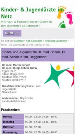 Vorschau der mobilen Webseite www.kinderarzt-scholz.de, Dres. med. Scholz und Scholz-Kühn