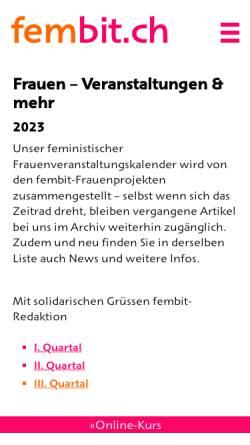 Vorschau der mobilen Webseite www.fembit.ch, fembit.ch