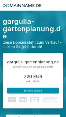 Vorschau der mobilen Webseite www.gargulla-gartenplanung.de, Gargulla Gartenplanung