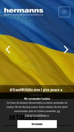 Vorschau der mobilen Webseite landschaftsplaner.com, Hermanns, Andreas